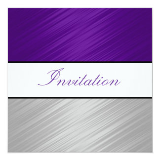 All Occasions Purple Silver Stripes Party Card