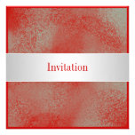 All Occasions Red Silver White Dust Invitations