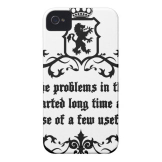All Of  he Problems In The World ..quote iPhone 4 Cover