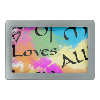 All of me loves all of you rectangular belt buckle