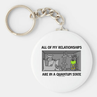 All Of My Relationships Are In A Quantum State Basic Round Button Keychain