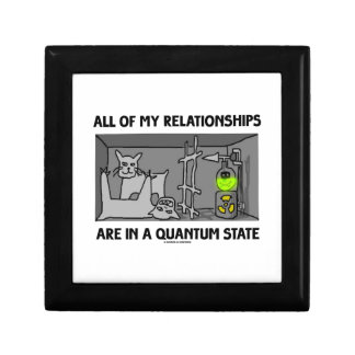 All Of My Relationships Are In A Quantum State Keepsake Box