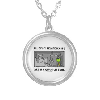 All Of My Relationships Are In A Quantum State Silver Plated Necklace