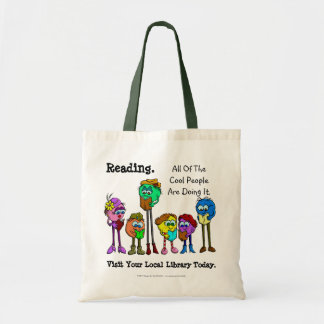 All Of The Cool People Read Canvas Bags