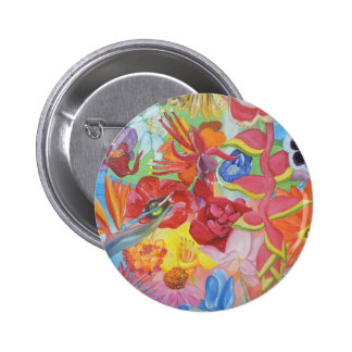 All of the Flowers 2 Inch Round Button