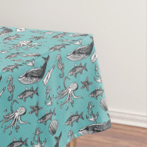 All Of The Sea Pattern Tablecloth