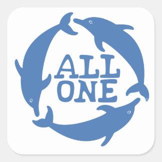 All One Square Sticker