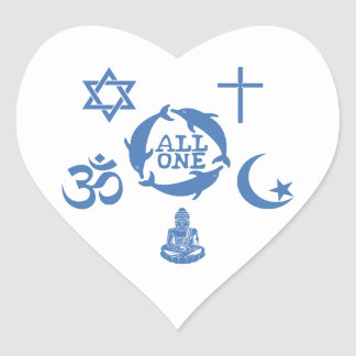 All One Together Heart Sticker