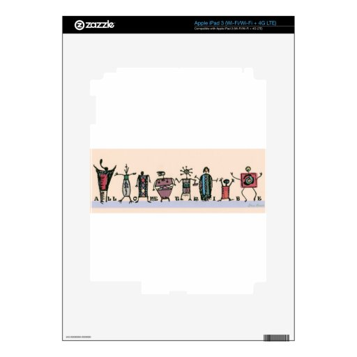 All One Tribe iPad 3 Decals