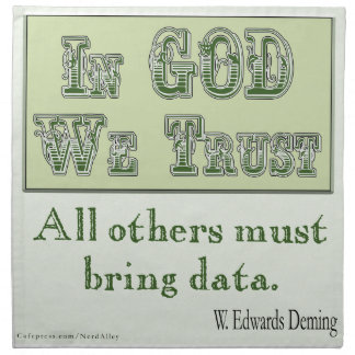 All Others Must Bring Data Napkins