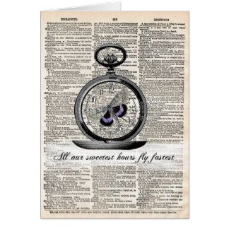 All our sweetest hours fly fastest greeting card