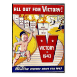 All Out For Victory, Victory In 1943 Post Card