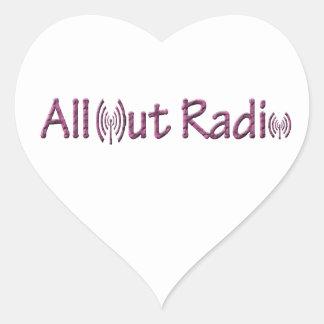 All Out Radio Merch/ Apparel Heart Sticker