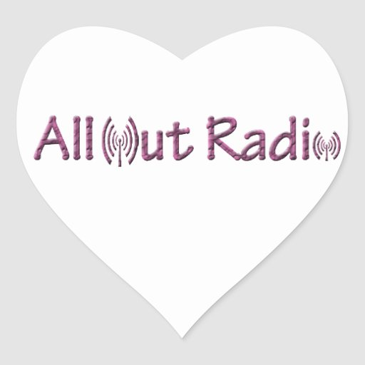 All Out Radio Merch/ Apparel Stickers