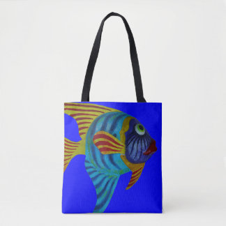 All Over Colorful Fish In Water Photography Print Tote Bag