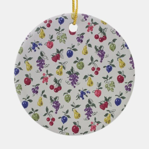 All Over Fruits wallpaper, 1945-1955 Christmas Ornaments