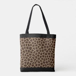 All-Over Giraffe Print Tote Bag