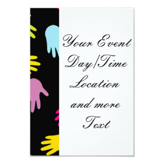 all over hands 3.5x5 paper invitation card