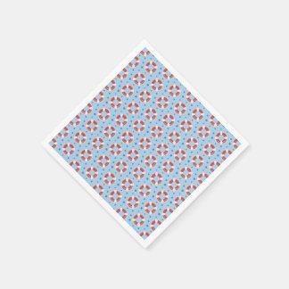 All Over Life Buoys Pattern Paper Napkin Standard Cocktail Napkin