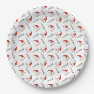 All Over Little Boats Pattern Paper Plate 9 Inch Paper Plate