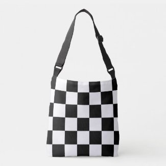 All-Over-Print Black and White Checkered Pattern