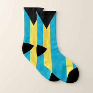 All Over Print Socks with Flag of Bahamas