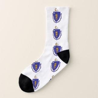 All Over Print Socks with Flag of Massachusetts