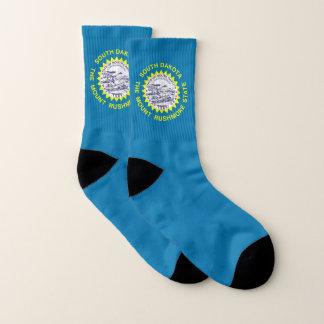 All Over Print Socks with Flag of South Dakota