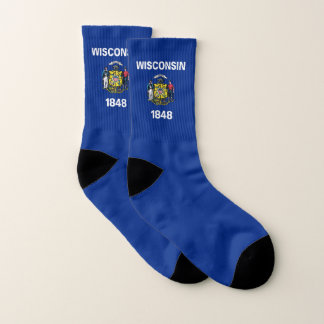 All Over Print Socks with Flag of Wisconsin