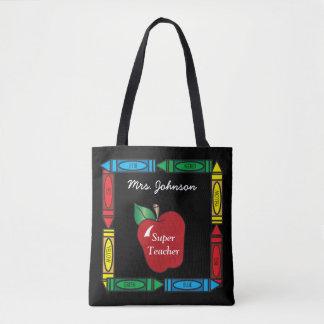 All Over Print Super Teacher - Personalize Tote Bag