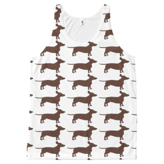 All-Over Print Top with Dachshunds All-Over Print Tank Top