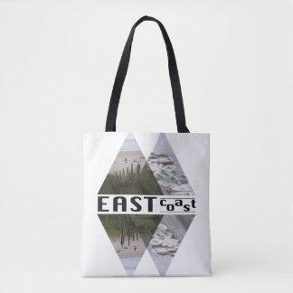 All-Over-Print Tote Bag, Medium EAST COAST