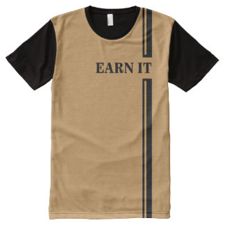 All-Over Printed Panel T-Shirt