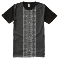 All-Over Printed Panel T-Shirt; Pipe Design II All-Over Print T-shirt
