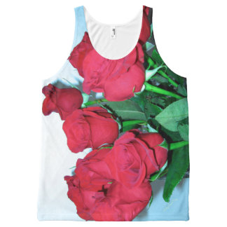 All-Over Printed Tank for Her. Roses