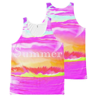 All-Over Printed Tank-Summer,colorful abstract ART All-Over Print Tank Top