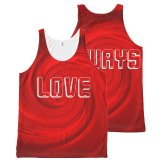 All-Over Printed Tank top-RED abstract-Love always All-Over Print Tank Top
