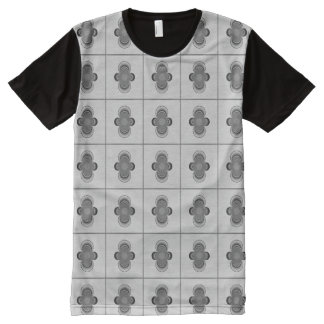 All-Over Printed TShirt with Black & White Dipoles