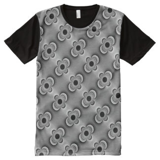 All-Over Printed TShirt with Gray Oil Dipoles