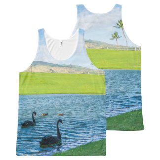 All Over Swans in Paradise Photography Print All-Over Print Tank Top