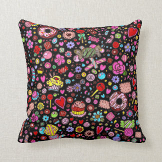 all over treats and flowers double face pillow