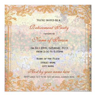 All party invitations, Flowering Garden, Van Gogh Personalized Invitation