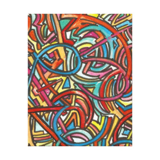 All Paths End There-Abstract Art Hand Painted Canvas Print