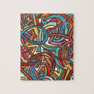 All Paths End There - Abstract Art Hand Painted Jigsaw Puzzle