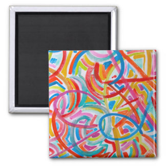 All Paths End There - Abstract Art Handpainted Magnet