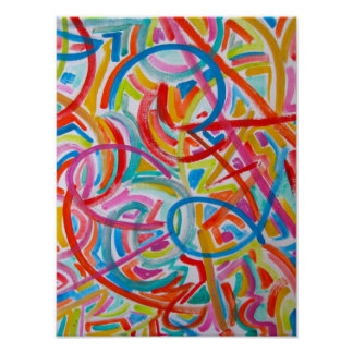 All Paths End There-Abstract Art Handpainted Poster