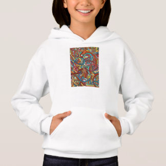 All Paths End There-Modern Acrylic Paint And Ink Hoodie
