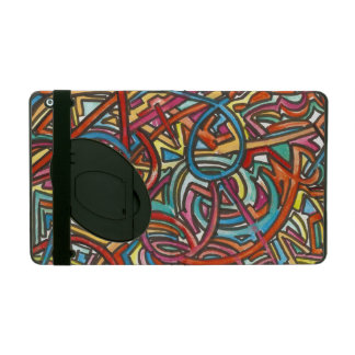 All Paths End There-Modern Acrylic Paint And Ink iPad Folio Cases