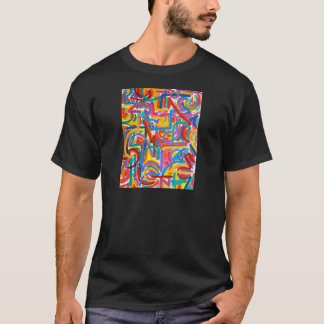 All Paths Go There - Abstract Art Handpainted T-Shirt