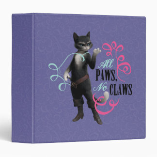 All Paws No Claws (color) Vinyl Binder